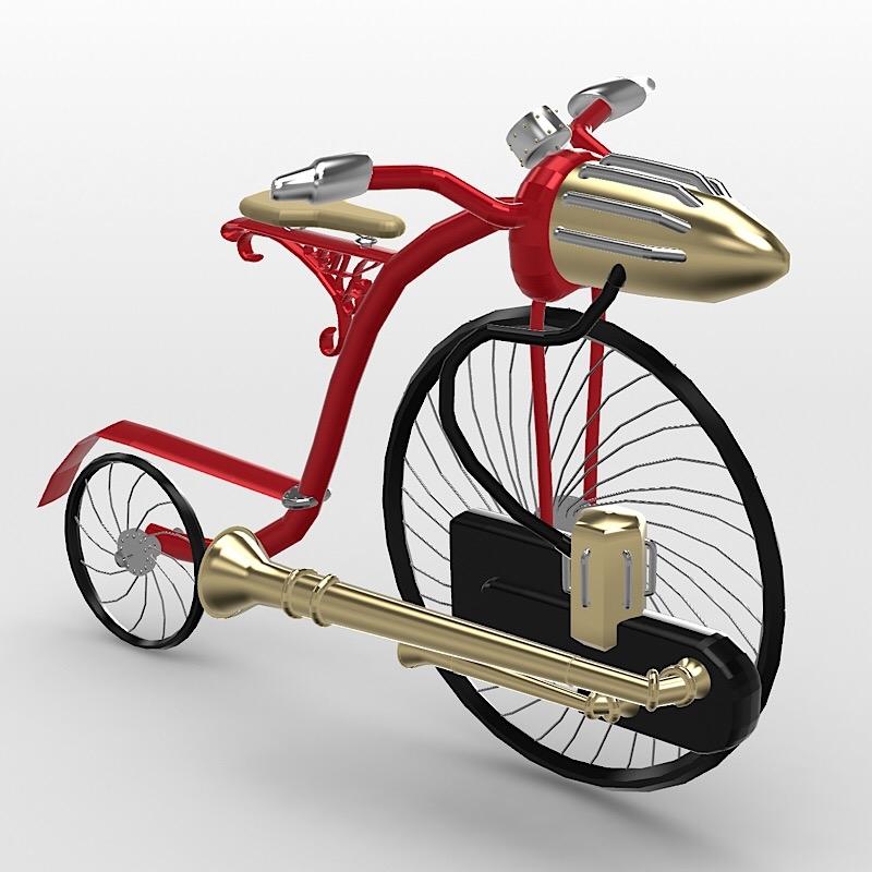 Bike Steampunk – USDZ Sharing Platform